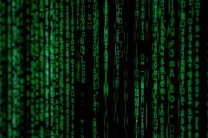 """Green computer code similar to that seen in """"The Matrix."""""""